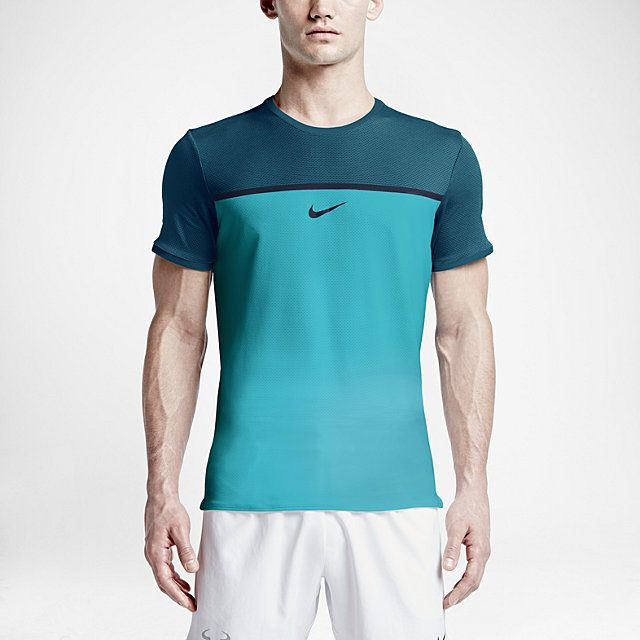 On Court: NikeCourt Challenger Rafa Premier Crew with Nike AeroReact  technology. The responsive, lightweight bi-component yarn senses moisture  vapor and ...