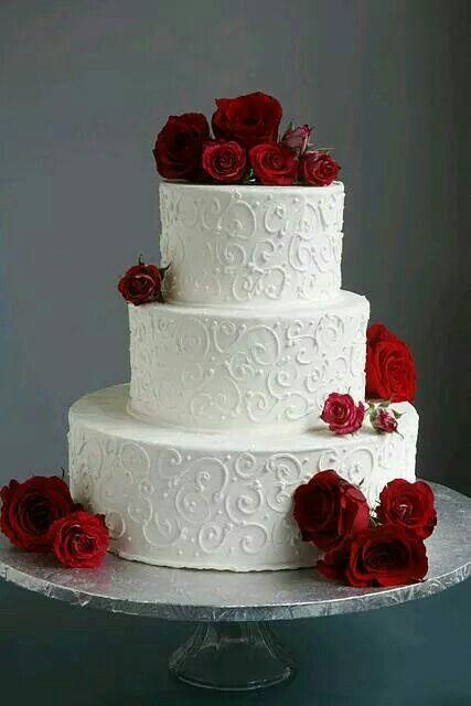 Gâteau Mariage Blanc Rouge Galerie Didées Dimages De Gâteau