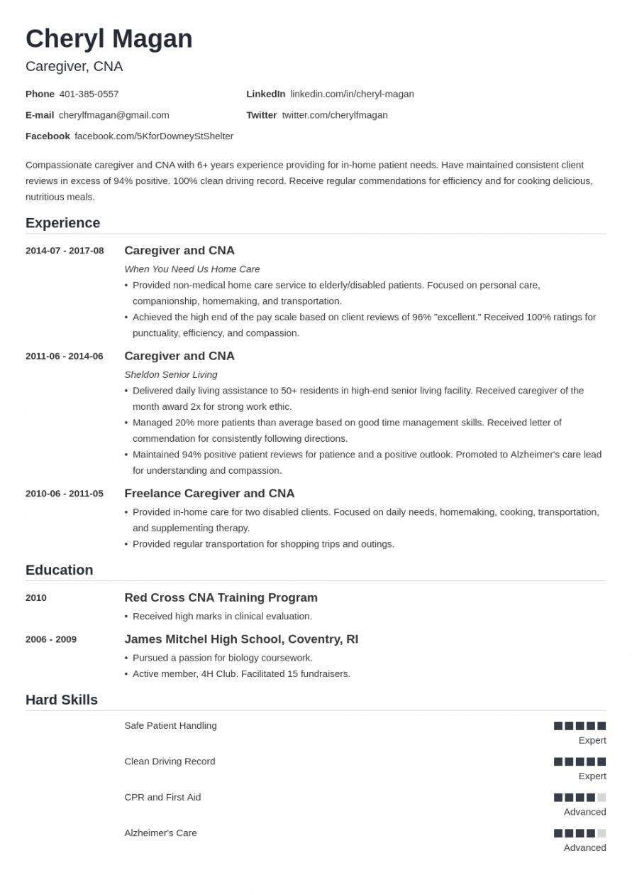 Browse Our Sample Of Caregiver Job Description Template For Free Caregiver Jobs Job Description Template Resume Examples