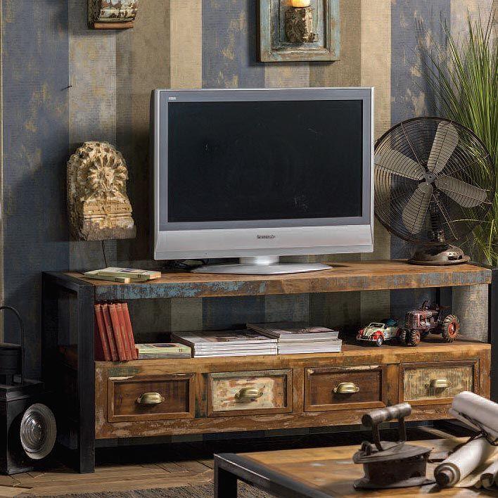 Photo of Mobile porta tv vintage legno riciclato – nuovimondi legno massello prezzo offerta