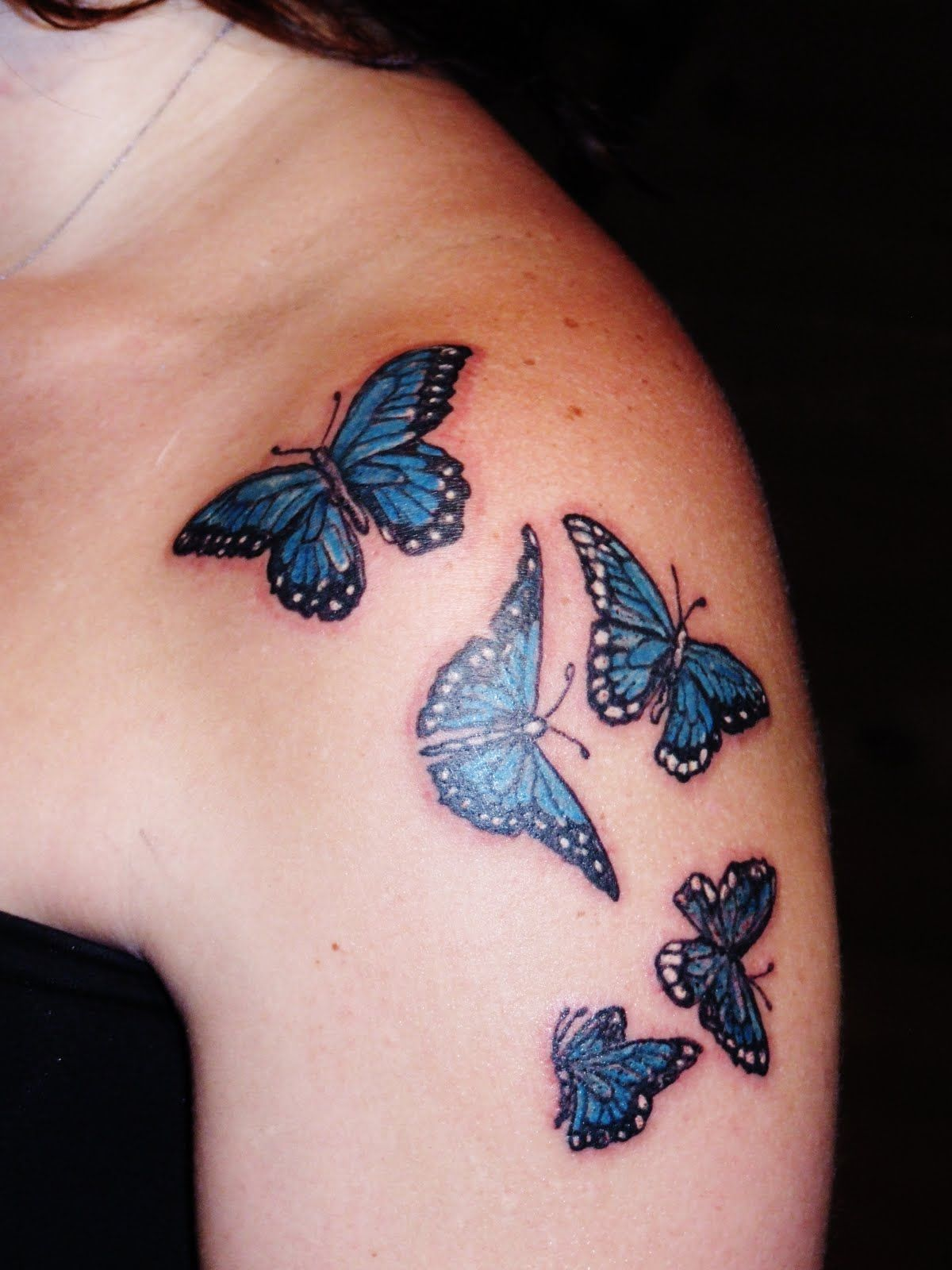 Small butterfly tattoos on shoulder tattoo on foot for Small shoulder tattoo
