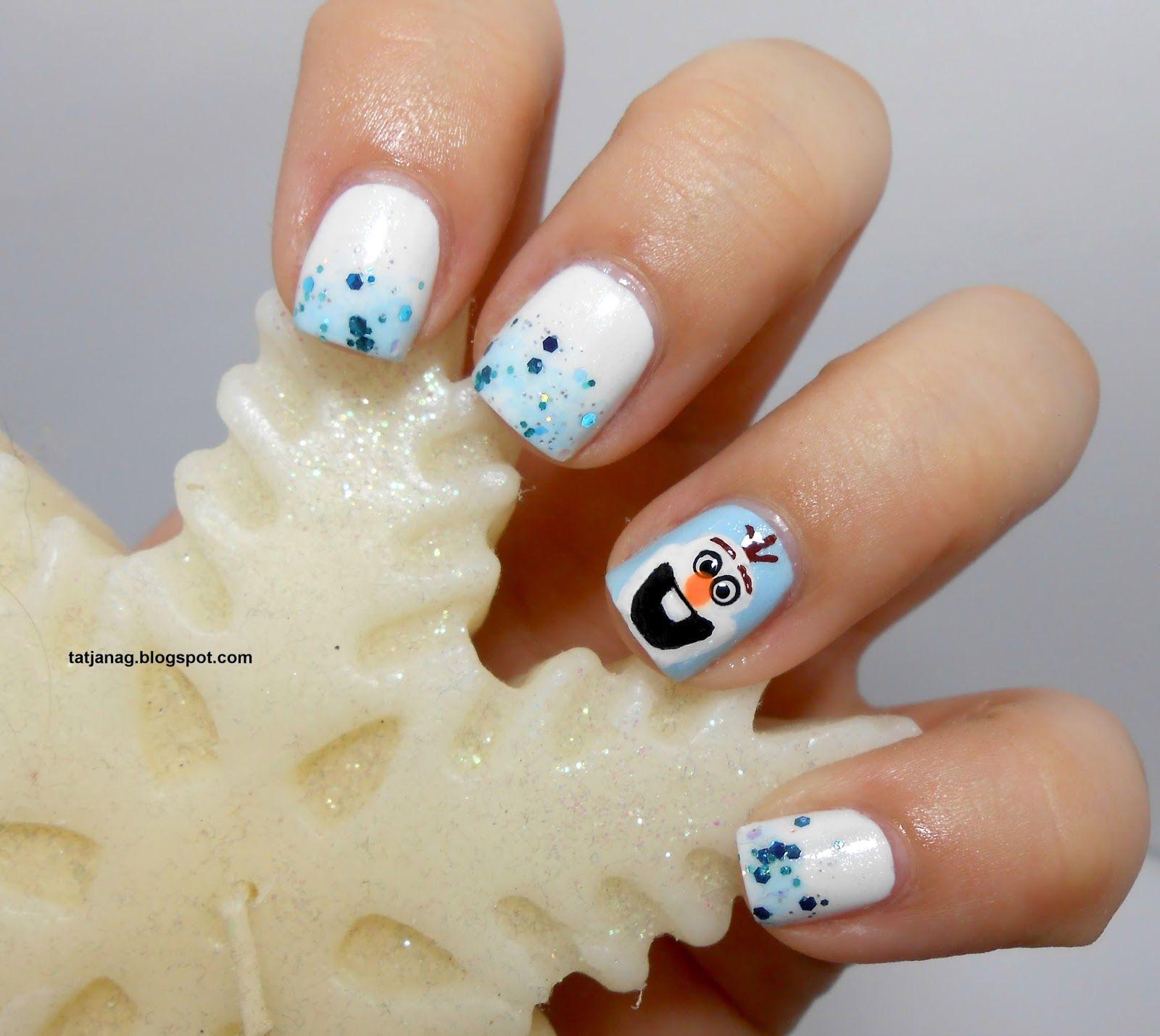 Frozen Series: Olaf nail art | My Nail Art | Pinterest | Olaf nails ...