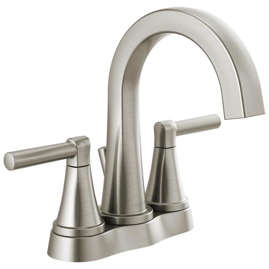 Delta Becker Spotshield Brushed Nickel 2 Handle 4 In Centerset Watersense Bathroom Sink Faucet With Drain Lowes Com Sink Faucets Bathroom Sink Faucets Bathroom Faucets [ 900 x 900 Pixel ]