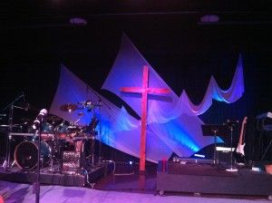 Simple Worship Stage Design Ideas | Fork in the Road Music | Kids on ...