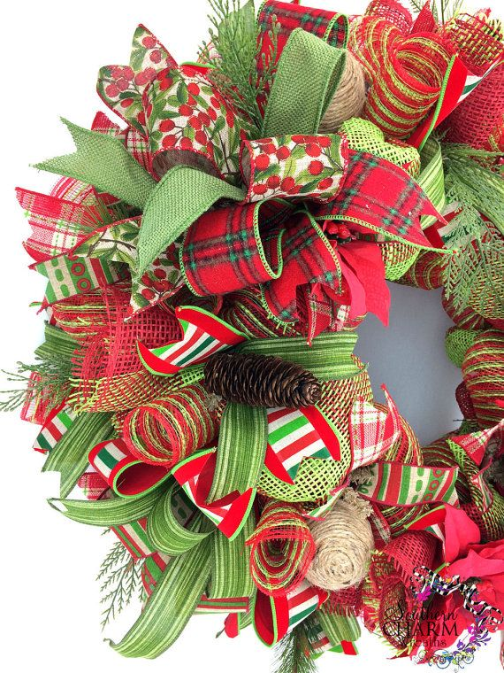 mesh burlap christmas wreath deco mesh christmas wreath