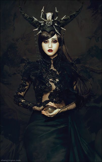Motherland Chronicles #24 - Alodia  Photography: Zhang Jingna Model: Alodia Gosiengfiao Hair: James Thomas Makeup: Lindsey Rivera Photo Assistants: Julia Wang, JoEllen Elam  Lace top: Mother of London Skirt: Firefly Path Headdress: Bubbles And Frown Studio: Pillar Box Studios