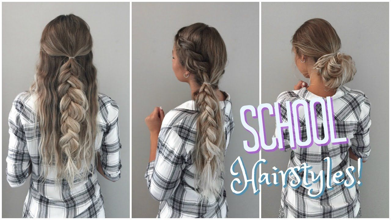 Quick Easy No Heat Hairstyles Back To School No Heat