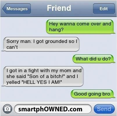 It's probably immture that I laughed at this, but it's hilarious! #funnyjokes #funnytextmessages