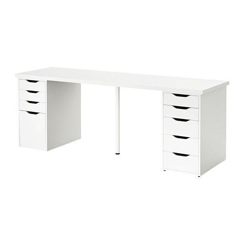 Linnmon Alex Table Black Brown Gray 78 3 4x23 5 8 Home Home Office Organization Home Office Desks