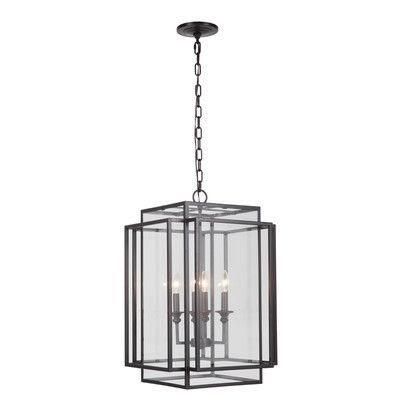 MarianaHome 4 Light Hanging Pendant Finish: Bronze