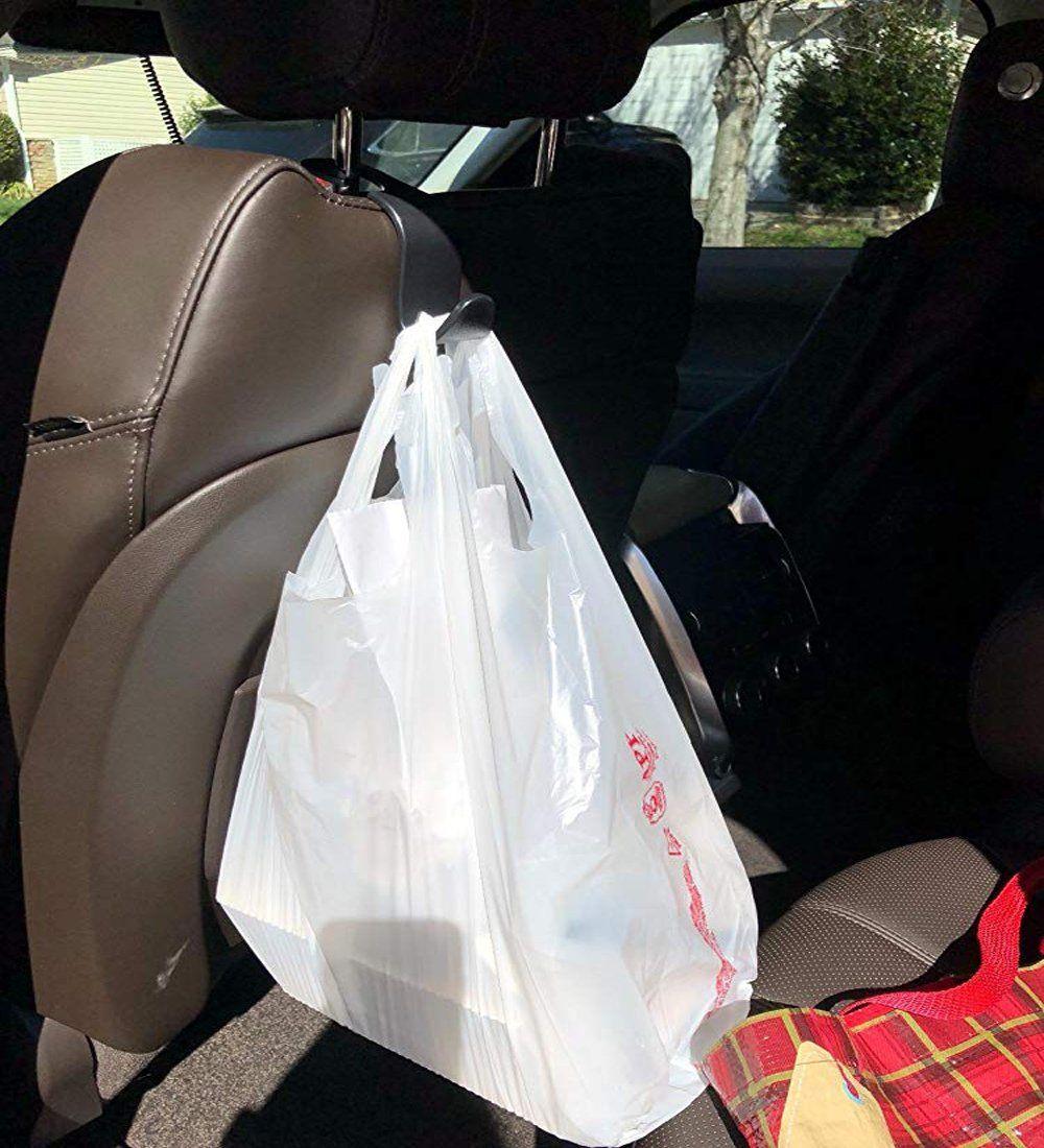 4-Pack Car Back Seat Headrest Hook Vehicle Universal  Hanger Storage Bag Purse