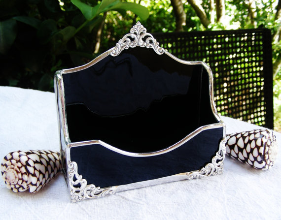 Elegant black stained glass business card holder by morethancolors elegant black stained glass business card holder by morethancolors 3450 colourmoves