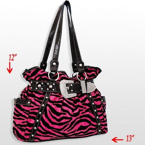 Hot Pink Zebra Purse By Felicitysdesigns On Etsy 40 00