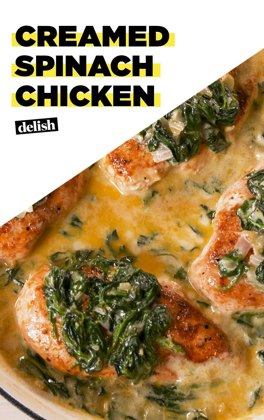 Creamed Spinach Chicken Slays The Dinner Game Recipe Recipes Chicken Recipes Spinach Stuffed Chicken