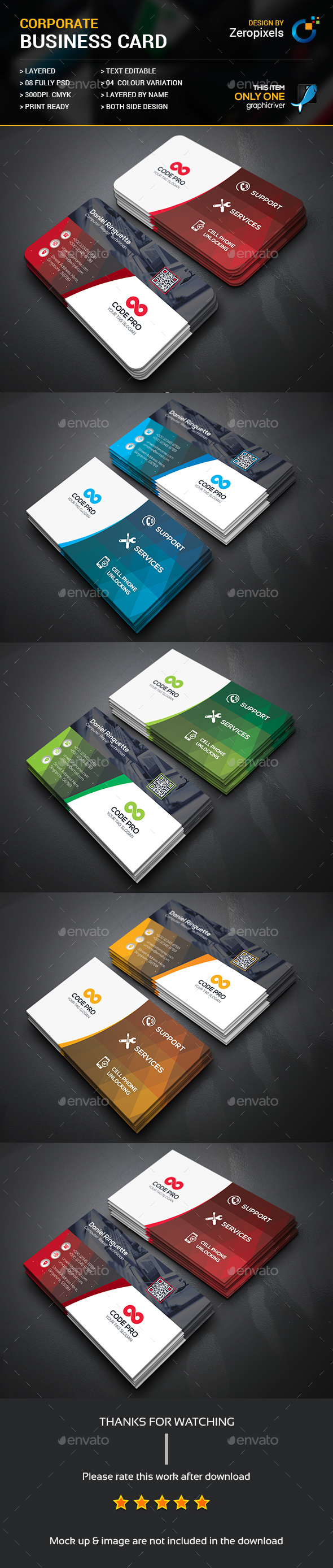 Mobile Computer Repair Business Card — Photoshop PSD #blue #print ...