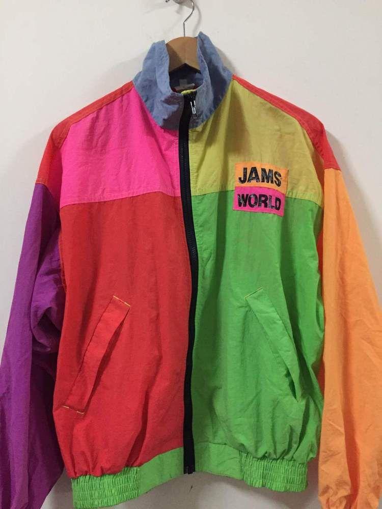 5497197464936 Vintage RARE James World Colourful Jacket Sweater Coat Punk Grunge ...