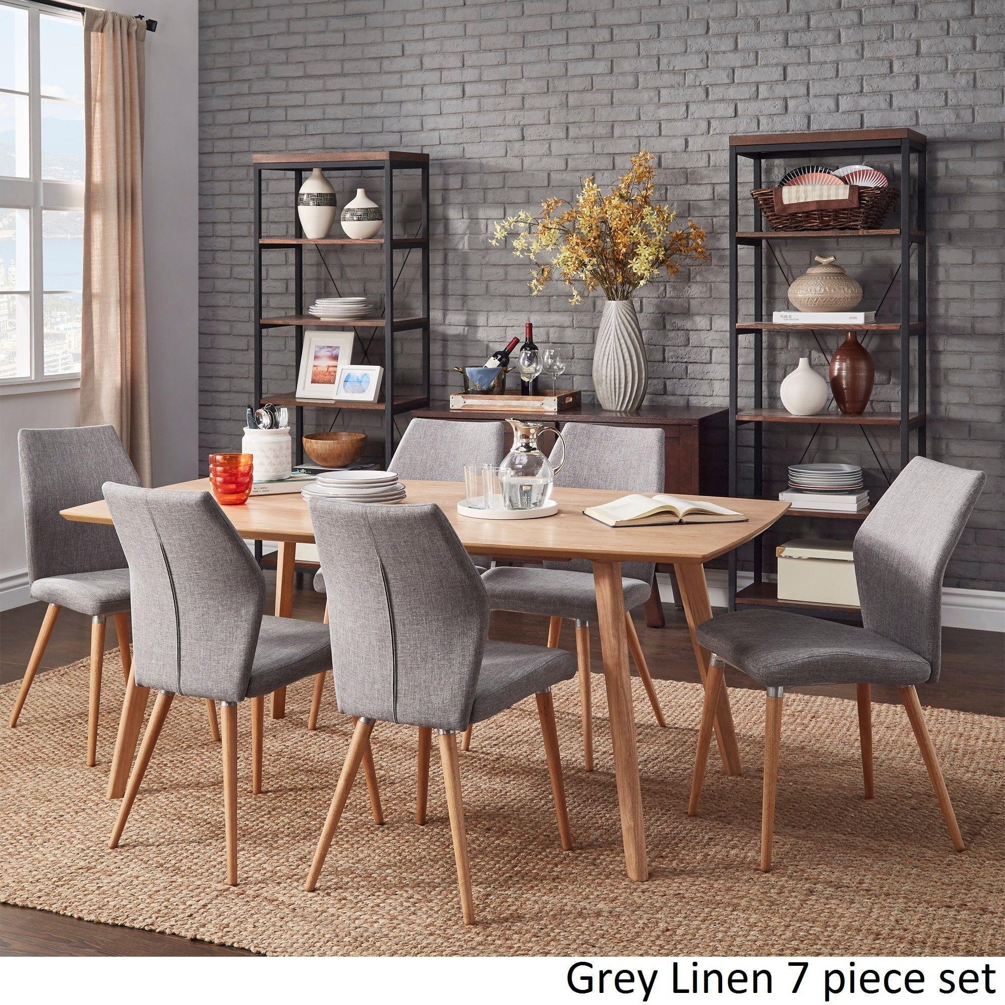 Abelone Scandinavian Oak Dining Set INSPIRE Q Modern ([7PC