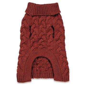 Zack & Zoey Elements Chunky Cable Sweater Red