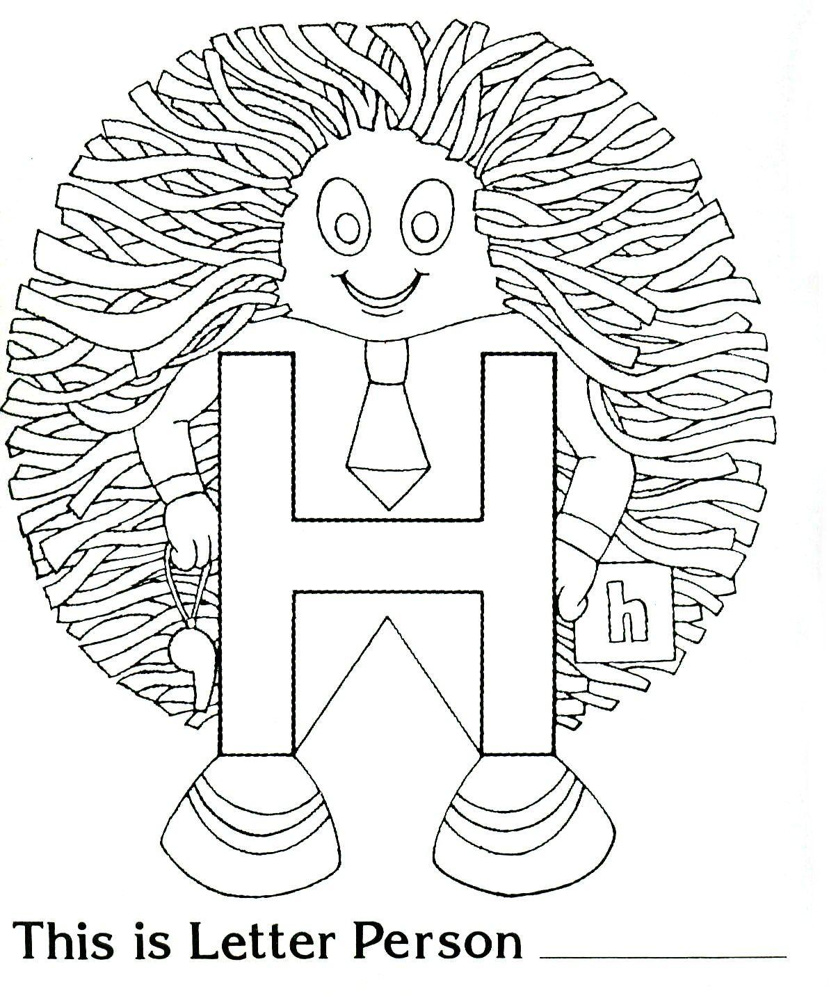 Brilliant Beginnings Preschool H Is For Horrible Hair With Printable