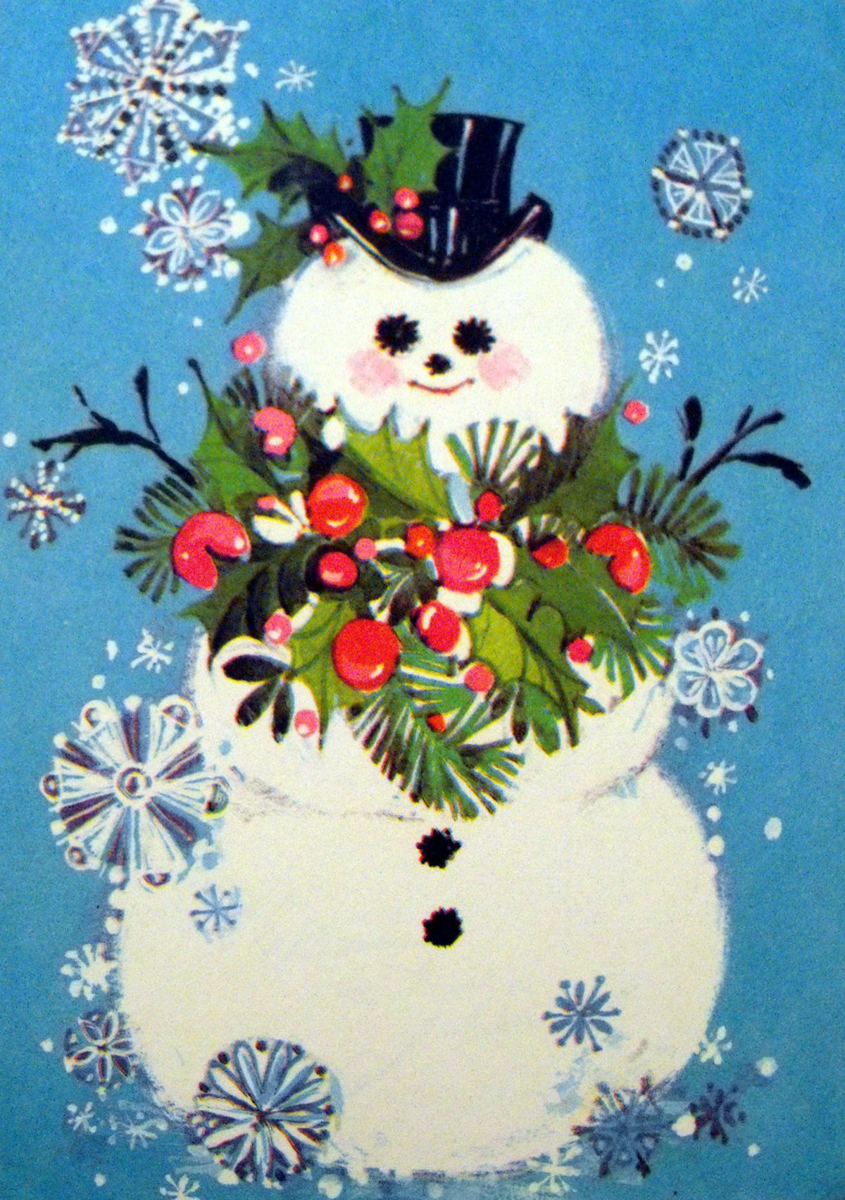 Vintage Christmas Card→ For more, please visit me at: www.facebook ...