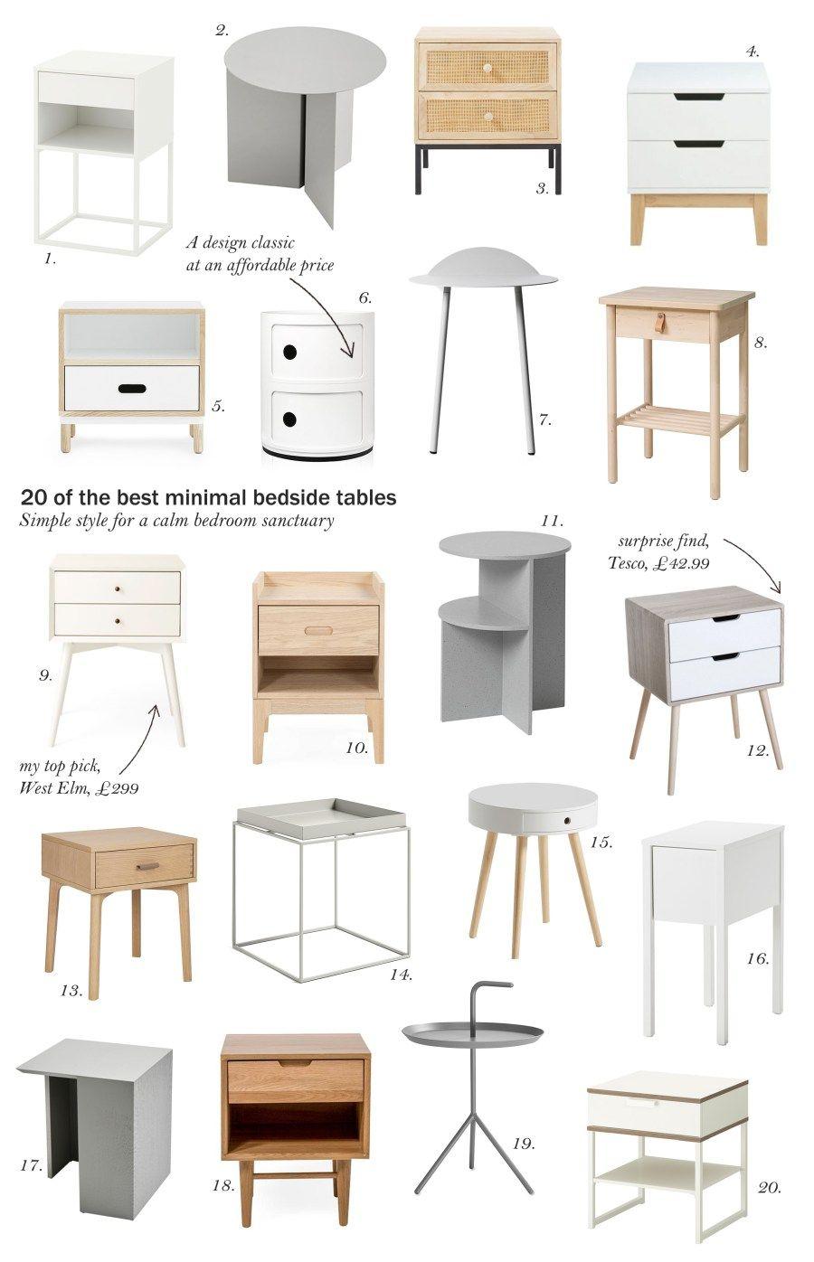 20 Of The Best Minimal Scandi Style Bedside Tables Bedside Table Decor Home Decor Side Tables Bedroom