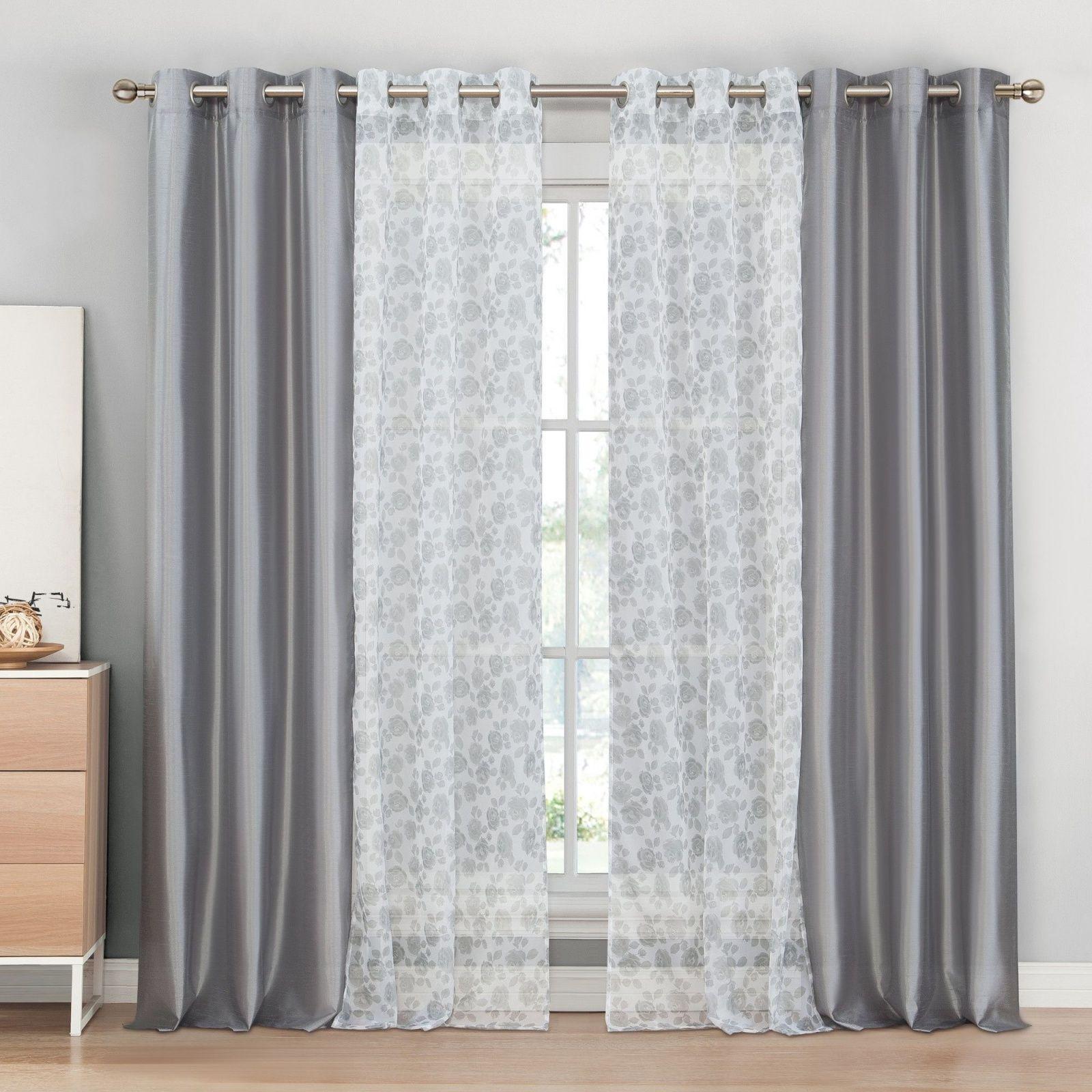 beautiful windows curtains gray