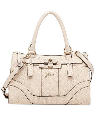 6043922f5d59 GUESS La Vida Logo Small Satchel - Handbags   Accessories - Macy s ...