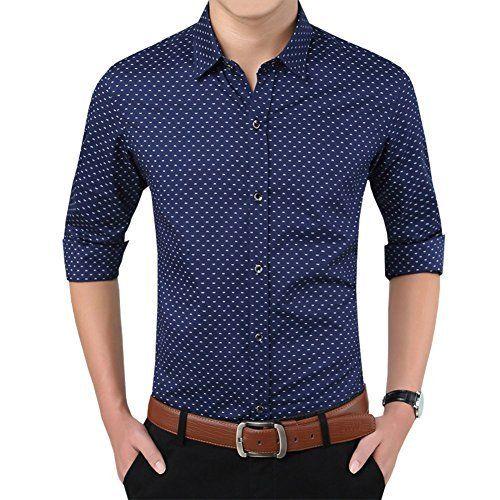 1ea691ad7bd FLATSEVEN Men s Slim Fit Casual Button Down Dress Shirt Long Sleeve (SH600)  White