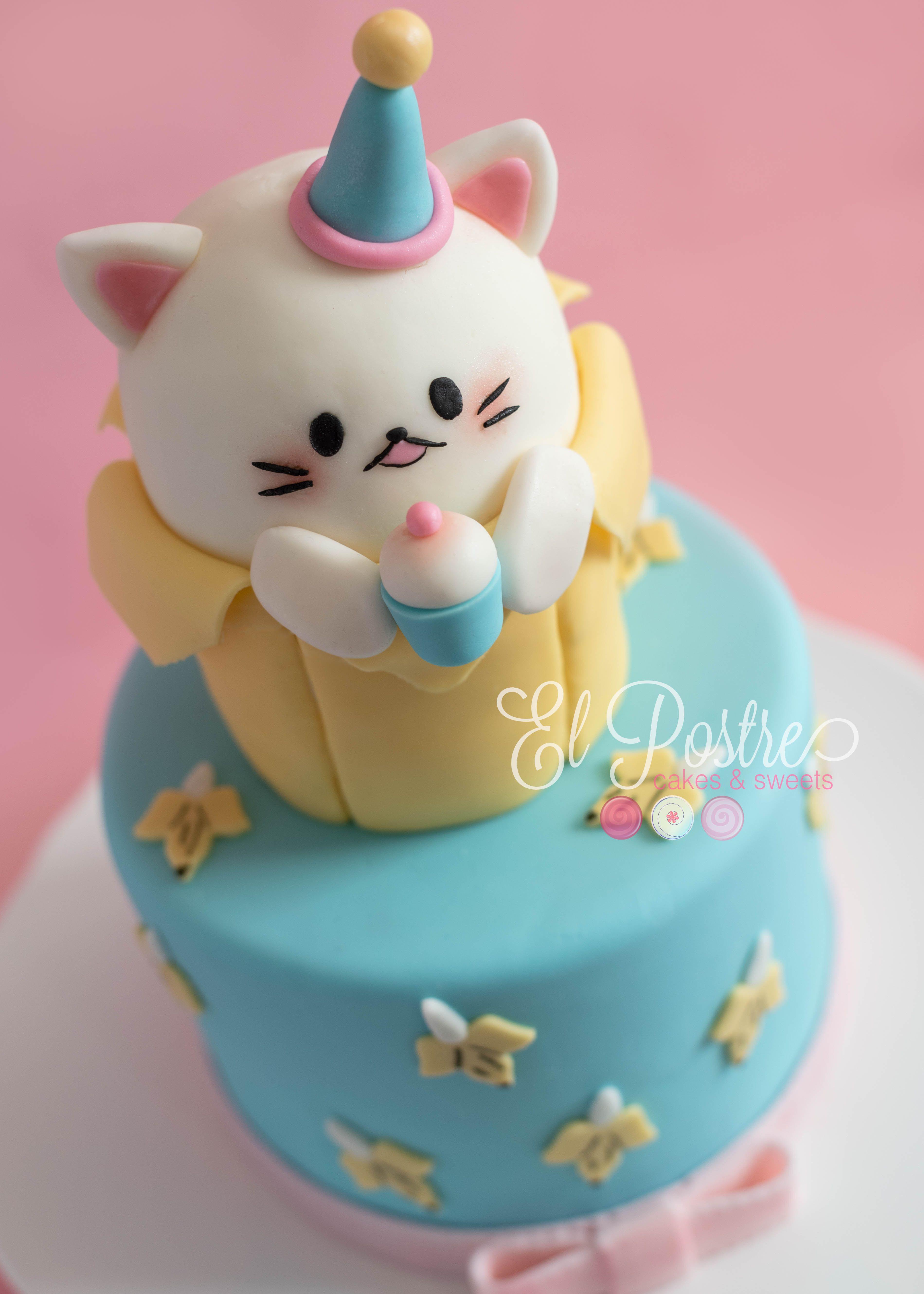 Bananya Cat Cake For A 10 Year Old Girl S Birthday Party Bananya