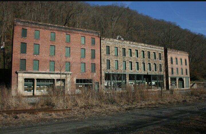 Abandoned town in Thurmond, WV. Use to be an old mining town.