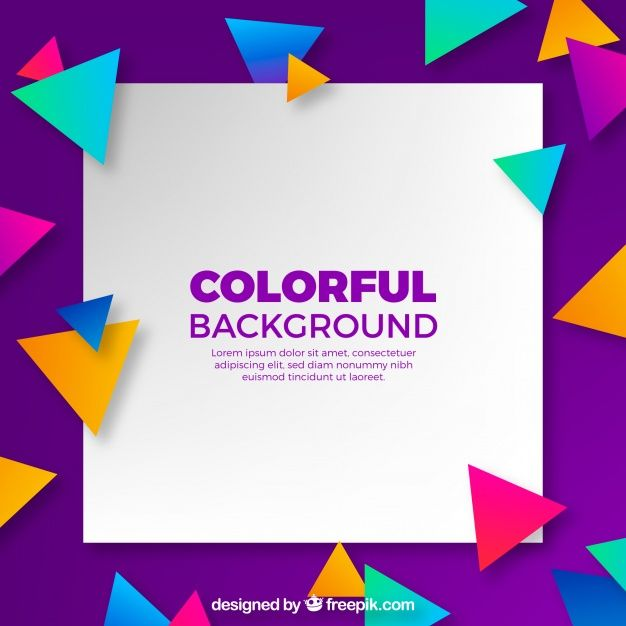 Download Background With Colorful Triangles For Free Modern