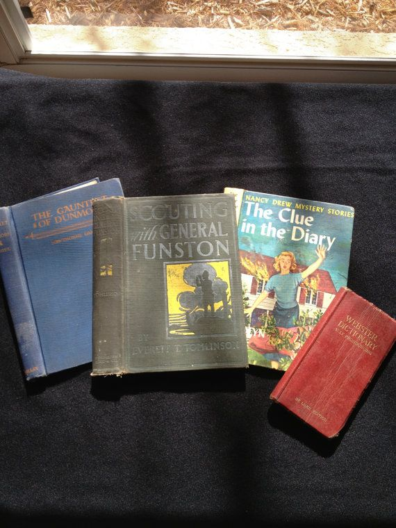 4 Vintage Book Covers Recycled Altered Art Journal by jammatun, $3.00