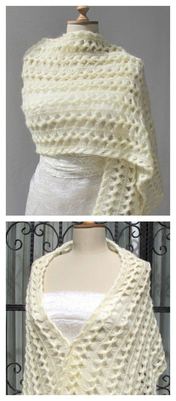 Unique Hairpin Lace Crochet Patterns and Projects | Horca, Chal y ...