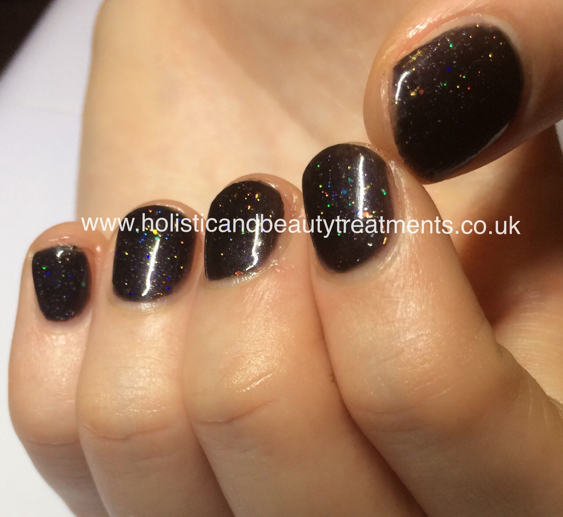 Dark colours can look good on short nails too. CND Shellac Overtly ...
