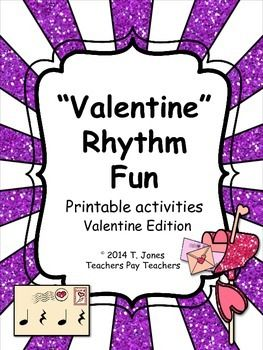 Valentine Fun with Rhythm!  Identify the meter, compose patterns, rhythmic dictation, add the barlines!  18 pages :)
