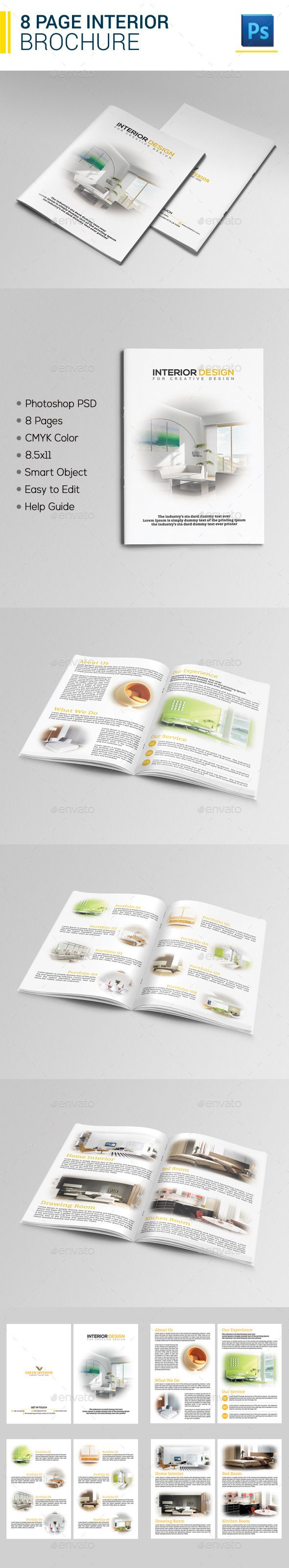 Page Interior Brochure Brochures Template And Interiors - 8 page brochure template