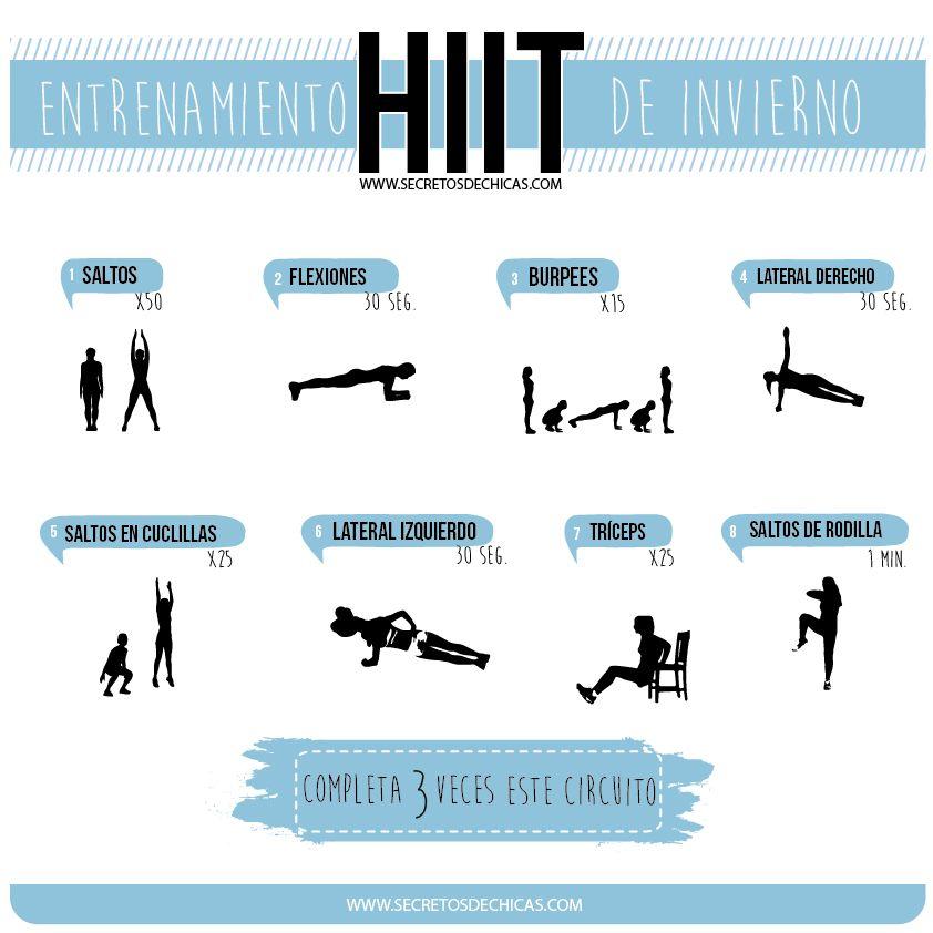 Circuito Hiit En Casa : Entrenamiento hiit de invierno rutinas ejercicios