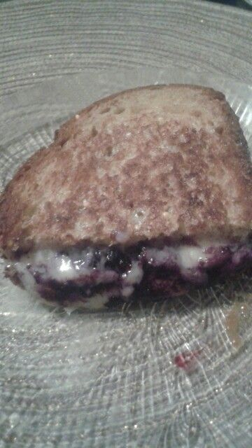 Blueberry and Brie grilled cheese