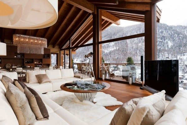 Wohnzimmer - Sechs Sterne Luxus Boutique Ferienhaus on snow - wohnzimmer luxus design