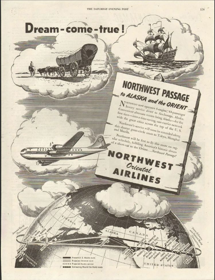 Pin by bruce honda on photo northwest airlines north