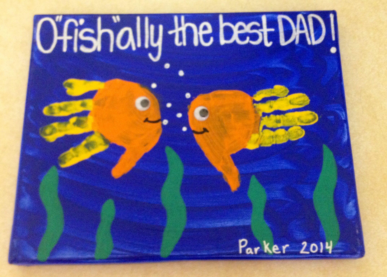 Handprint Fish Toddlers