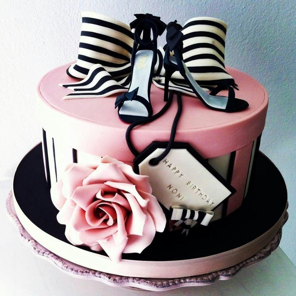 Pink Amp Black Party Cupcake Cakes 70th Birthday Cake Elegant Cake Design