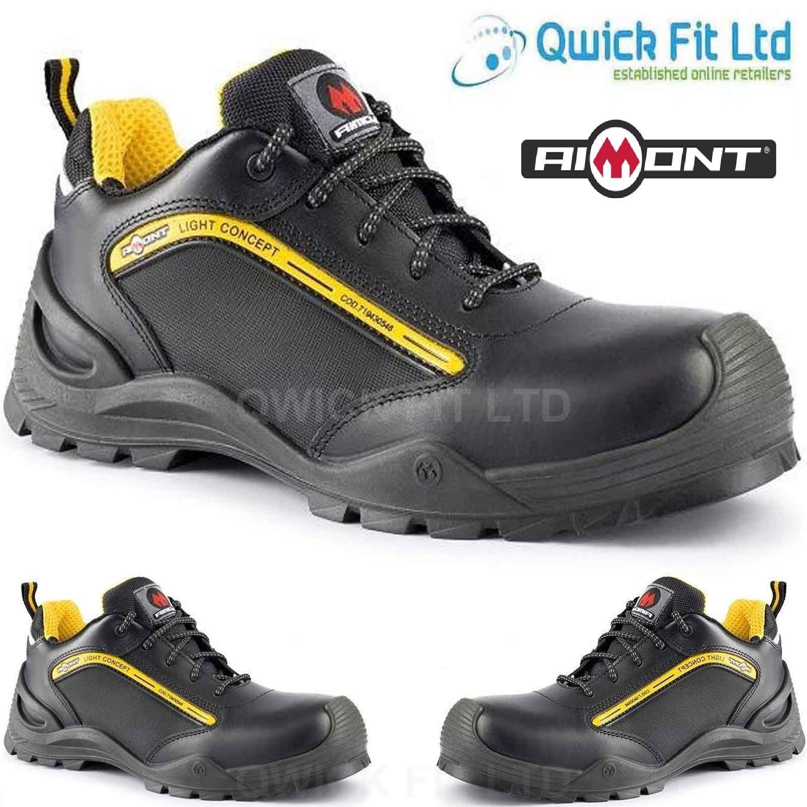 Mens Lightweight Safety Steel Toe Cap Work Sneakers Hiking Boots Trainers Shoes