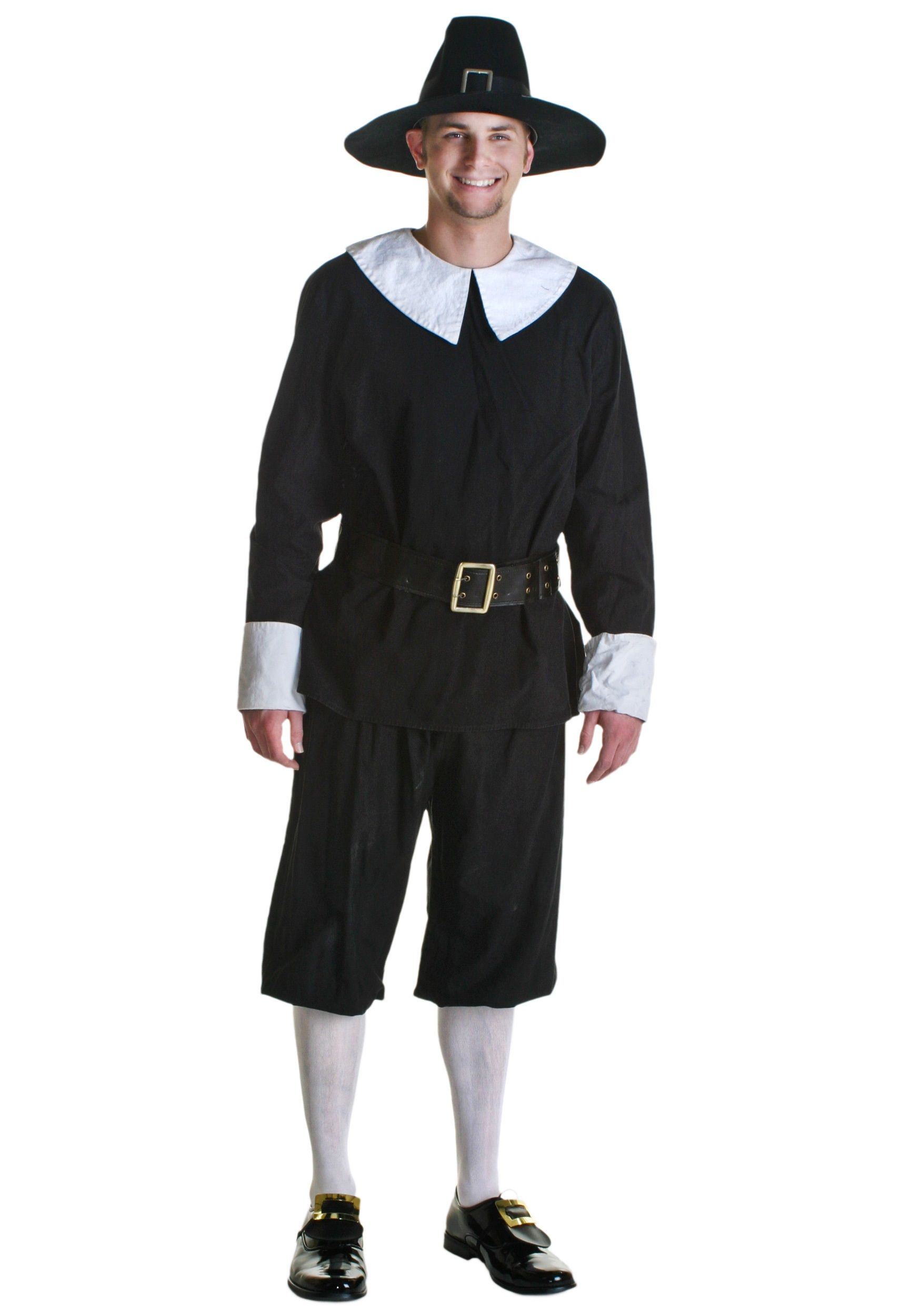 Pants Hat /& Buckle Adult Pilgrim Man Shirt