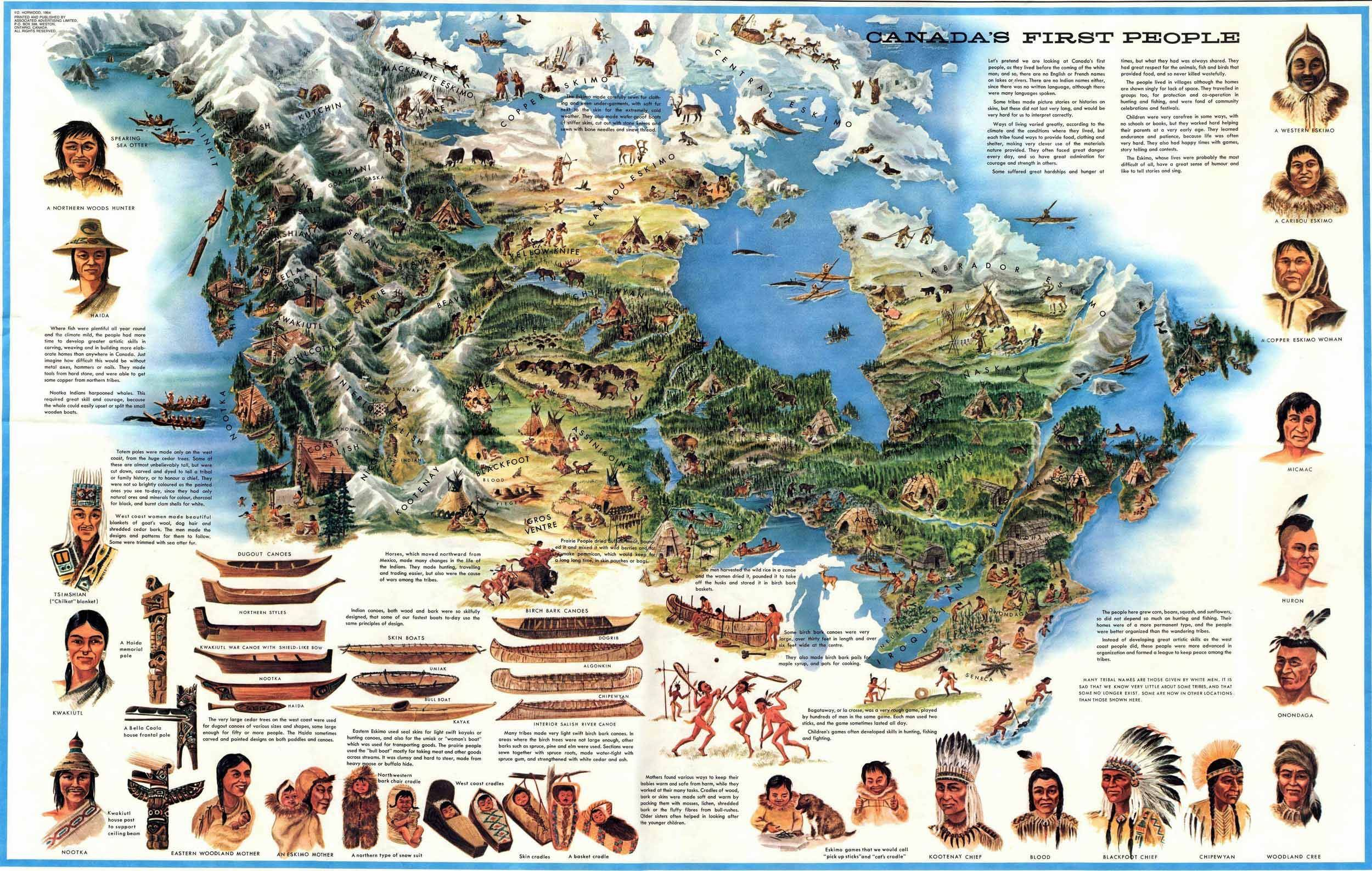 Map Of Canada S First Nation People