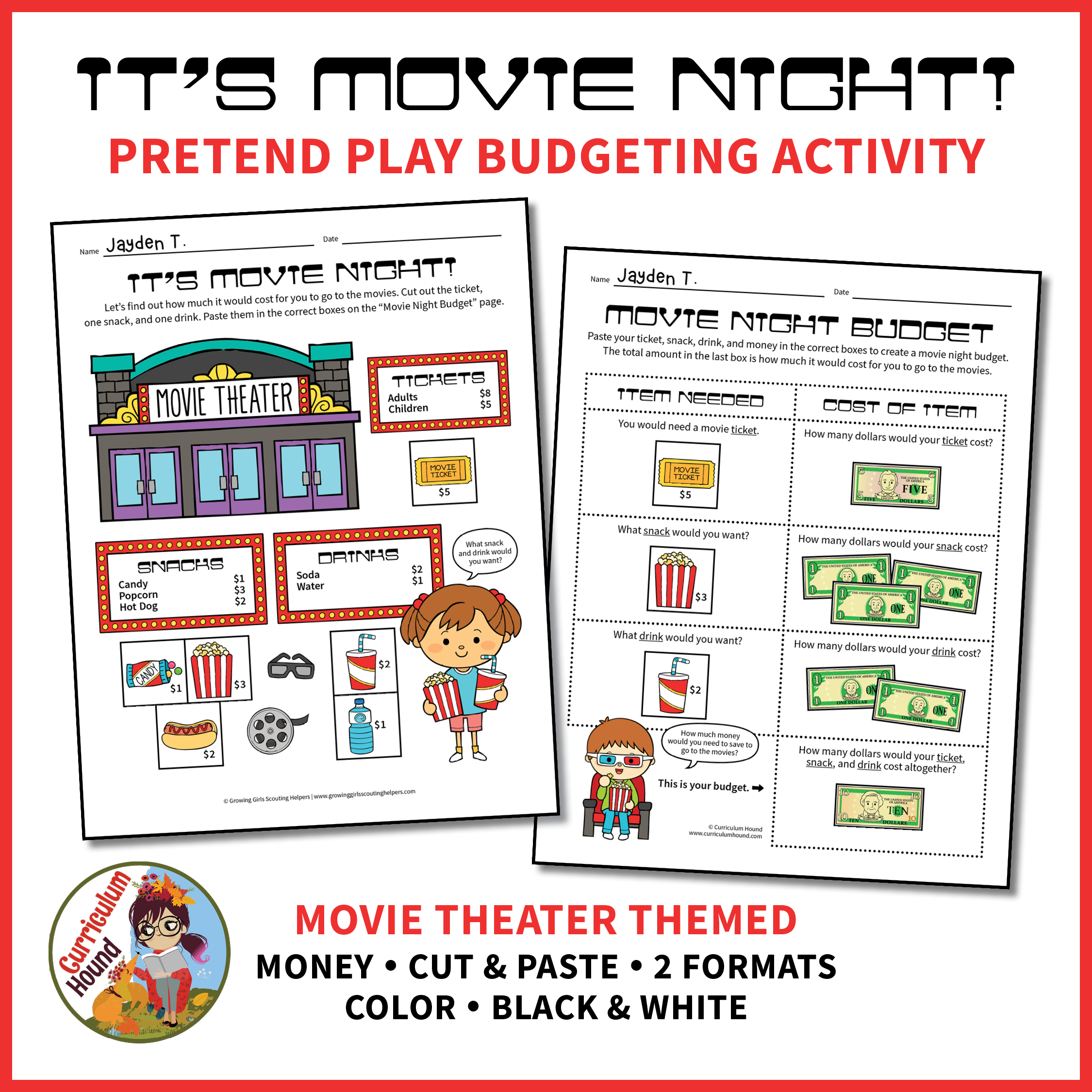 Movie Theater Budgeting Activity