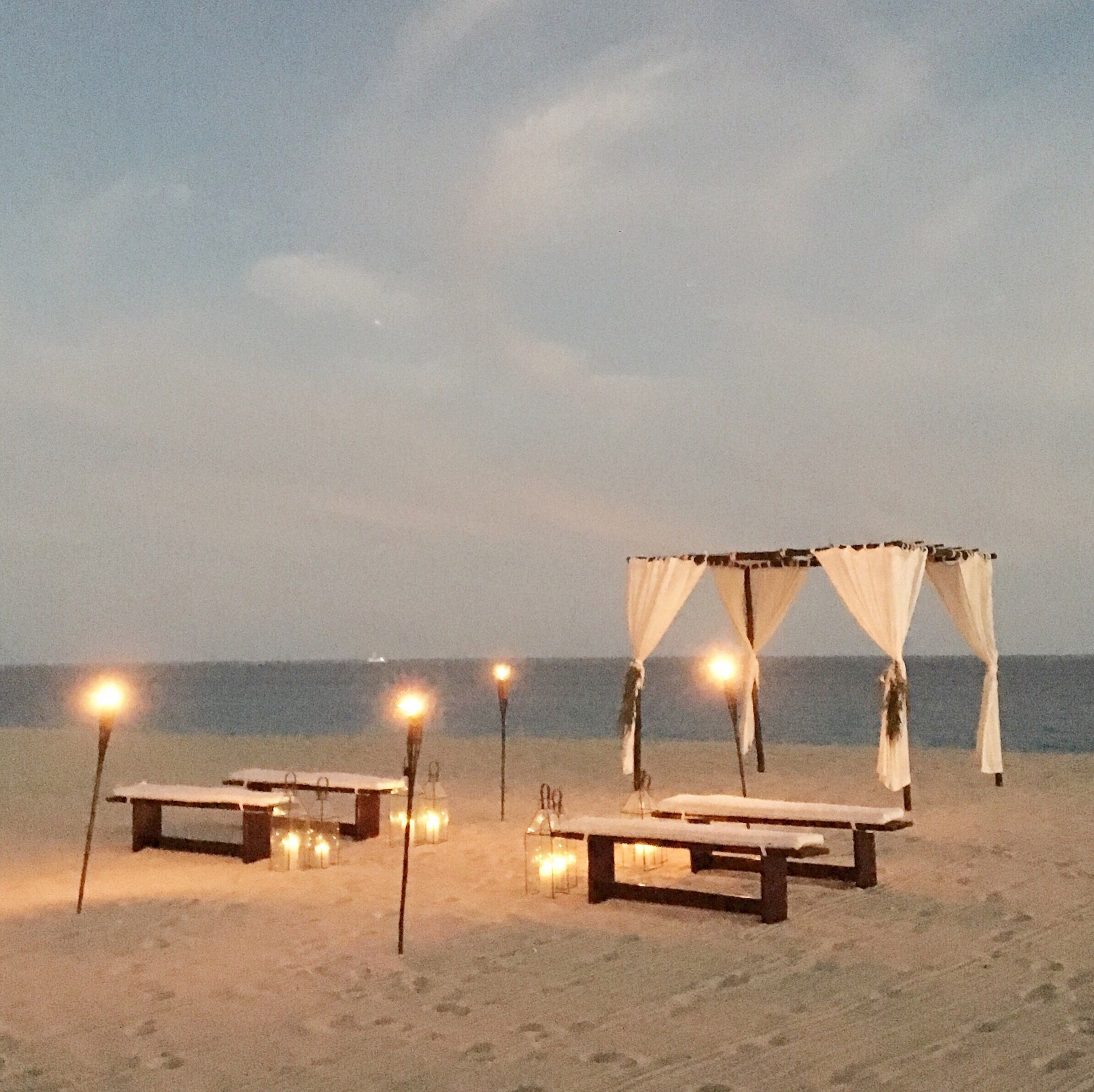 Night Beach Wedding Ceremony Ideas: Perfectly Intimate Beach Wedding Ceremony In Mexico