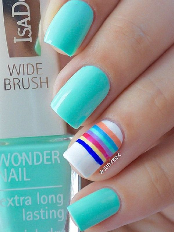 55 Stripes Nail Art Ideas Nail Designs Gallery Pinterest