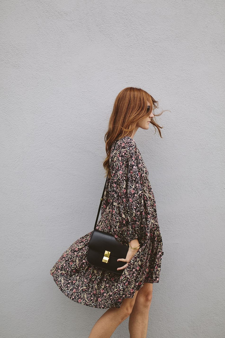 Transition your wardrobe from Summer to Fall with dark florals.