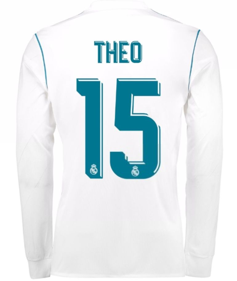 662fbdfa Real Madrid 2017-18 Home Kit LS THEO | cheap Real Madrid jersey ...